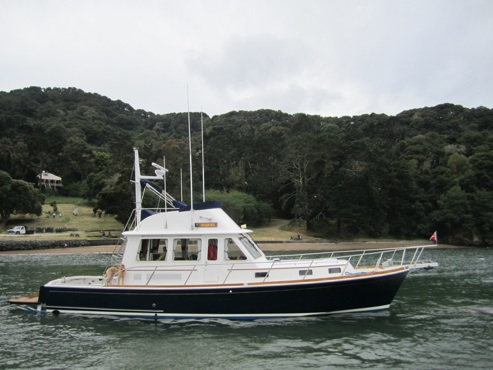 "The picture above is ""SEQUEL"" - the Grand Banks East Bay 43 that belongs to Vito & Linda Bialla. Vito can be contacted at Vitob@bialla.com for price and availability."